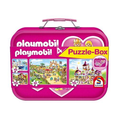 Schmidt Spiele Puzzle-Tasche »Puzzlekoffer 2 x 60 + 2 x 100 Teile Playmobil,«