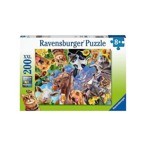 Ravensburger Puzzle »Puzzle Lustige Bauernhoftiere, 200 Teile«, Puzzleteile