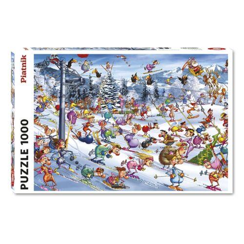 Piatnik Puzzle »Francois Ruyer Christmas Ski 1000 Teile Puzzle«, 1000 Puzzleteile