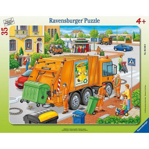 Ravensburger Puzzle »Rahmen-Puzzle, 35 Teile, 32,5x24,5 cm, Müllabfuhr«, Puzzleteile