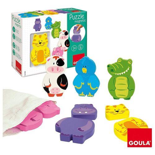 Goula Puzzle »Magnetisches Holzpuzzle Tiere«, Puzzleteile