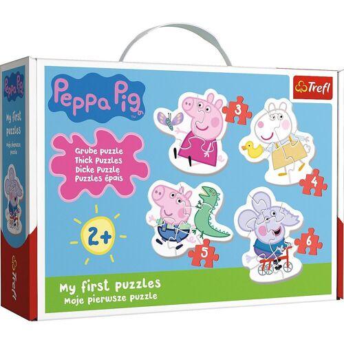 Trefl Puzzle »Mein erstes Puzzle - Peppa Pig, 3-6 Teile«, Puzzleteile
