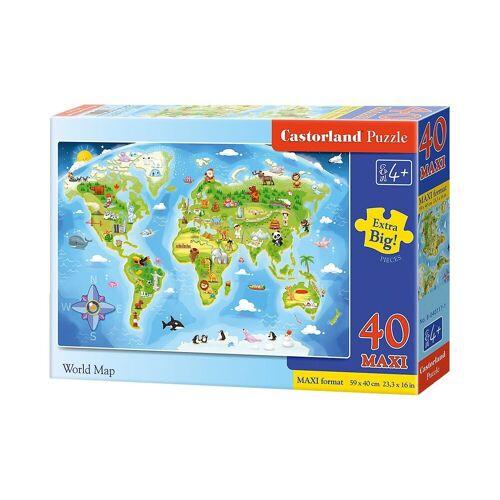 Castorland Puzzle »Bodenpuzzle 40 Teile Maxi - Weltkarte«, Puzzleteile