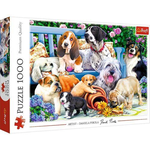 Trefl Puzzle »10556 Hunde im Garten 1000 Teile Puzzle«, 1000 Puzzleteile