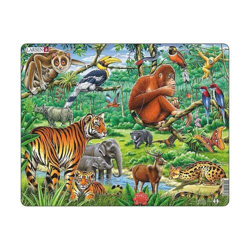 Larsen Puzzle »Rahmen-Puzzle, 20 Teile, 36x28 cm, Dschungel«, Puzzleteile