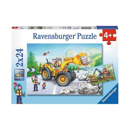 Ravensburger Puzzle »2er Set Puzzle, je 24 Teile, 26x18 cm, Bagger und«, Puzzleteile