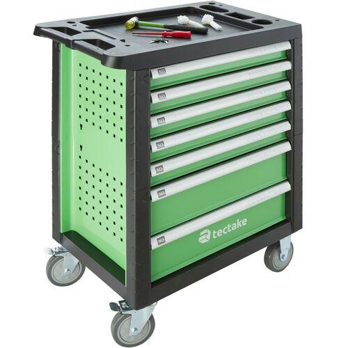 tectake Werkzeugwagen mit Werkzeug 1199-tlg. - grün