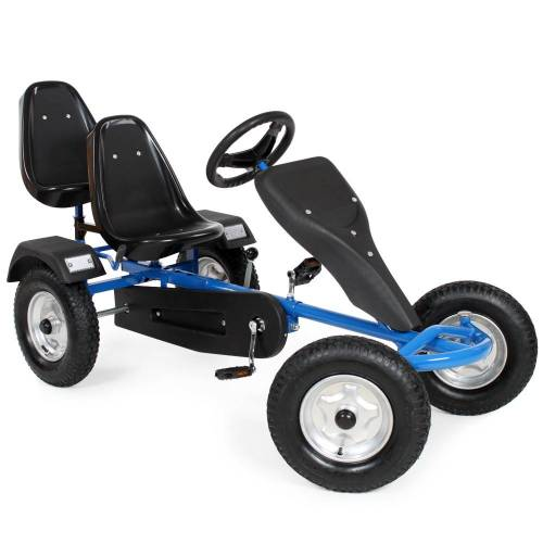 tectake Go-Kart 2-Sitzer - blau