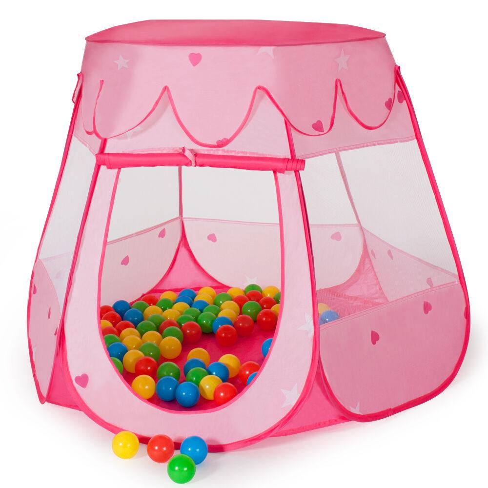 tectake Spielzelt mit 100 Bällen - pink