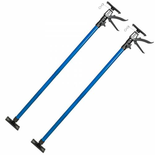 tectake 2 Baustützen 115 bis 290 cm - blau