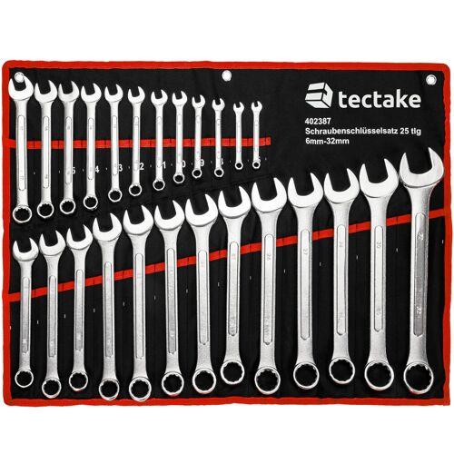 tectake Schraubenschlüssel Set 25-tlg. - schwarz/rot