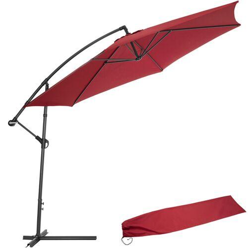 tectake Sonnenschirm Ampelschirm Ø 350cm mit Schutzhülle - rot