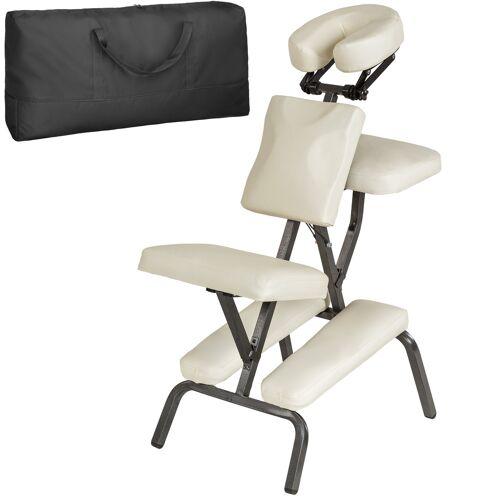 tectake Massagestuhl aus Kunstleder - beige