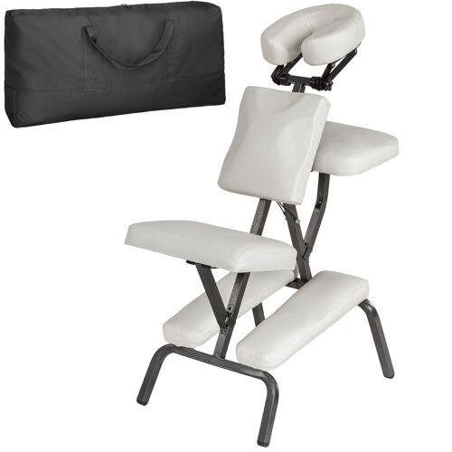 tectake Massagestuhl aus Kunstleder - weiß