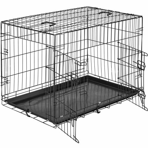 tectake Hundebox Gitter tragbar - 89 x 58 x 65 cm