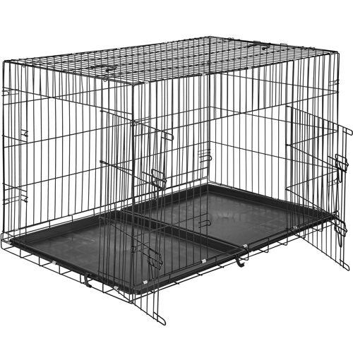 tectake Hundebox Gitter tragbar - 122 x 76 x 81 cm