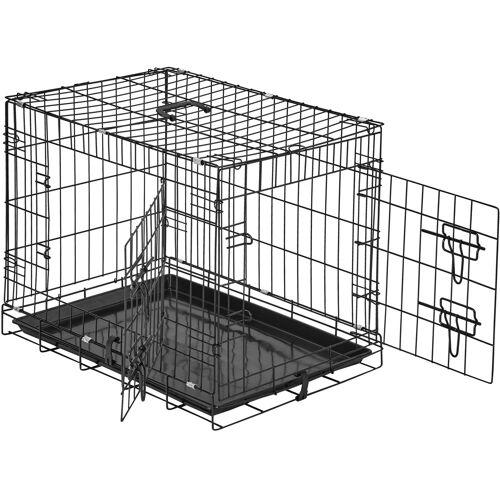 tectake Hundebox Gitter tragbar - 60 x 44 x 51 cm