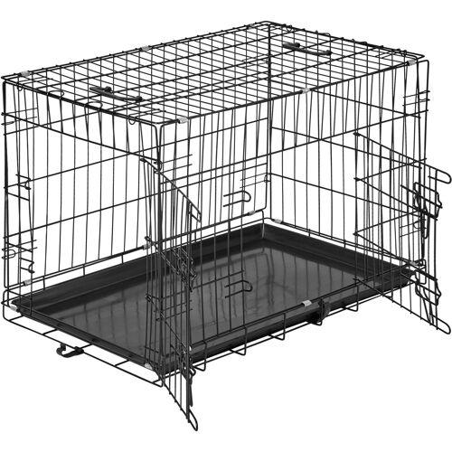 tectake Hundebox Gitter tragbar - 76 x 47 x 51 cm