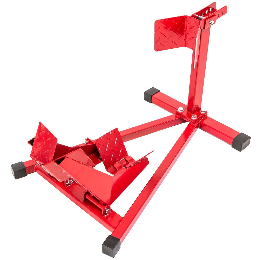 tectake Motorradständer - geeignet für Raddurchmesser 17″-21″ - rot