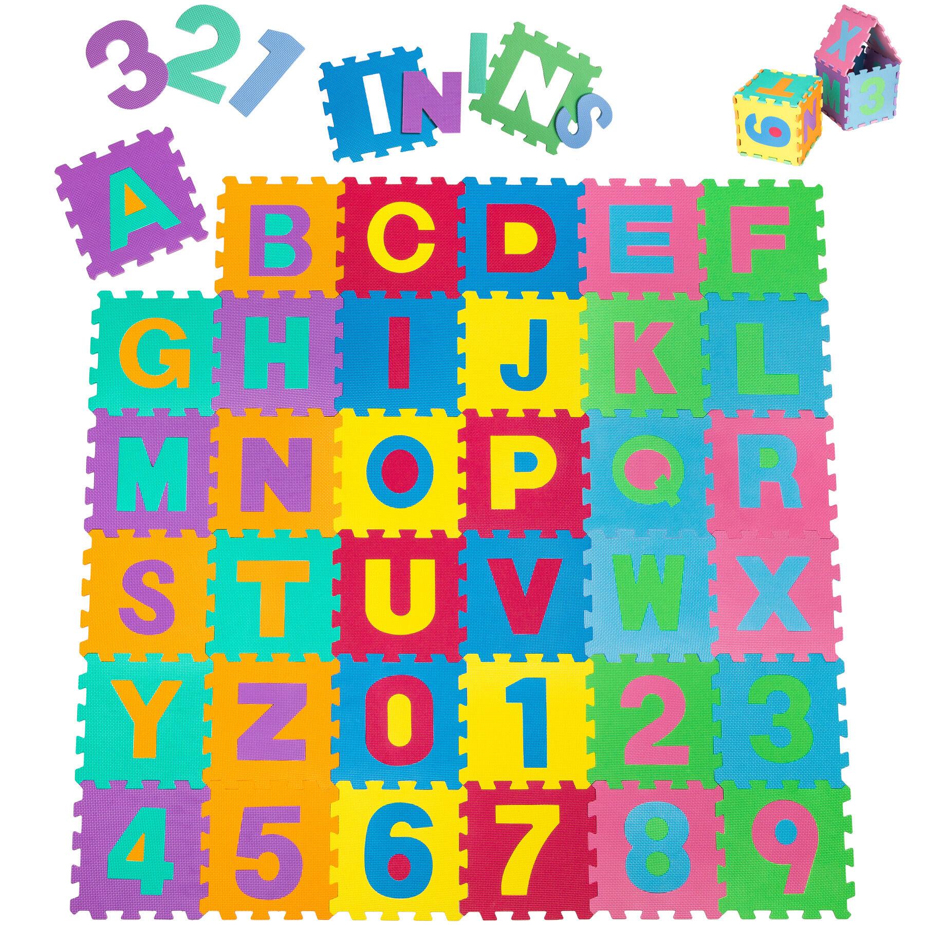 tectake Puzzlematte 86-tlg. - bunt