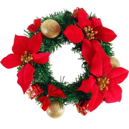Deuba® Weihnachtskranz Rot Ø22cm