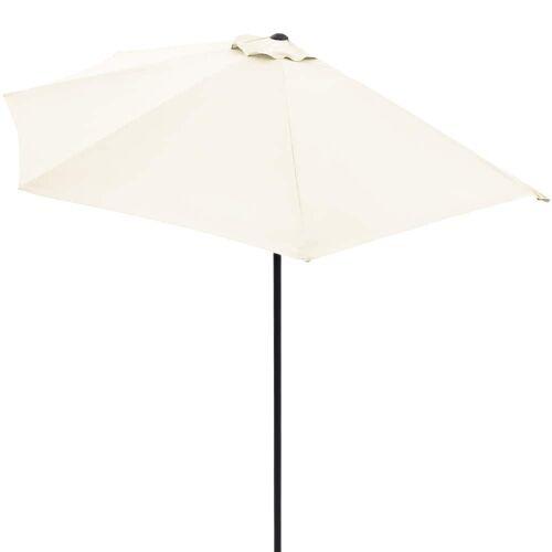 Kingsleeve Terrassen-Sonnenschirm Creme UV-Schutz 50+