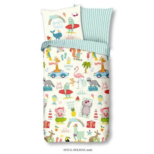 Wende-Kinderbettwäsche Holiday ca. 135x200cm