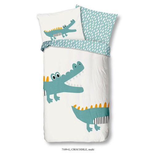 MID.YOU Wende-Kinderbettwäsche Krokodil ca. 135x200cm