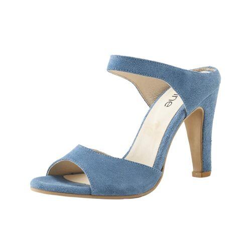 Heine Highheel Pantolette 35;39;40;41 blau
