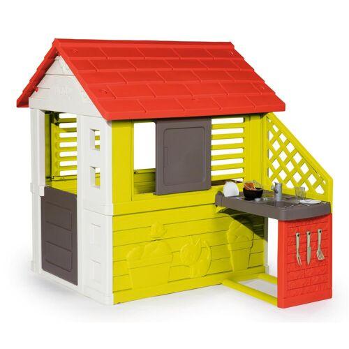 Smoby Spielhaus Natur mit Sommerküche  bunt