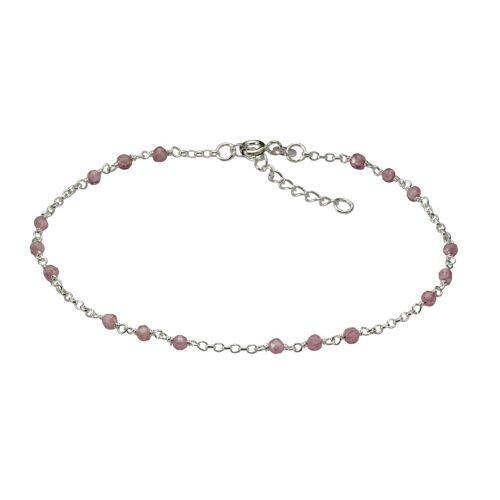 Vivance Fusskette 925/- Sterling Silber rhod Kristalle  weiß
