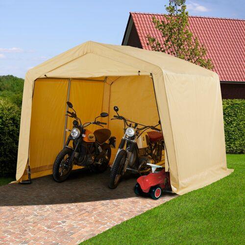 KONIFERA Folien-Gerätehaus BxTxH: 300x300x240 cm  beige