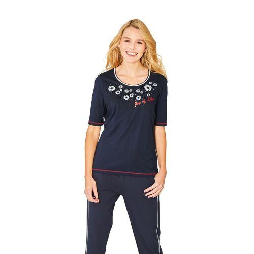 Hajo Hochwertiges Shirt Halbarm 38;40;42;44;46;48 blau