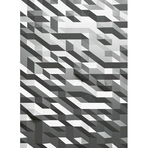 IDEALDECOR Fototapete 3D-Kristall Silber Vlies 2 Bahnen 183 x 254 cm  bunt