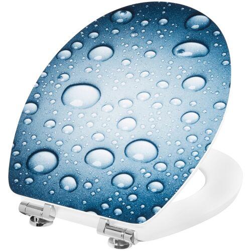 CORNAT WC-Sitz WASSERTROPFEN  blau