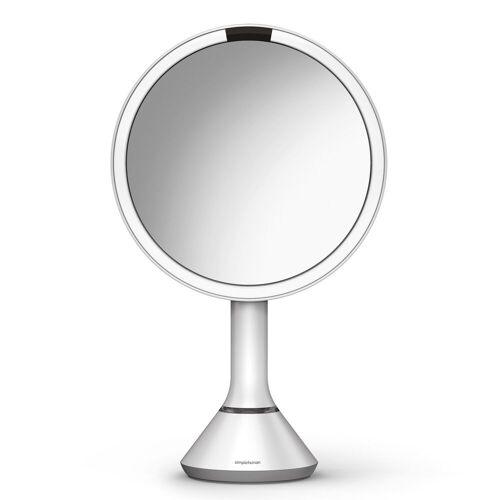 simplehuman Spiegel 20 cm Sensorspiegel mit Touch-Helligkeitsregelung  weiß