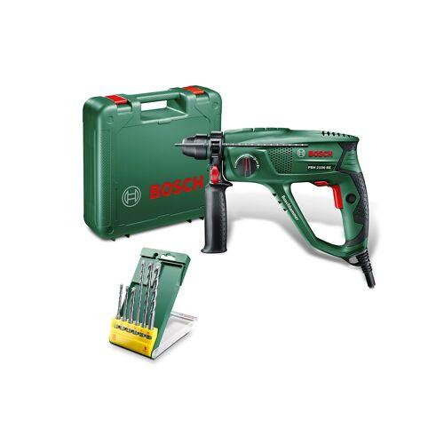 Bosch Bohrhammer PBH 2100 RE inkl 6-tlg Bohrer-Set  grün