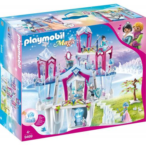 "Playmobil Konstruktions-Spielset ""Funkelnder Kristallpalast (9469) Magic"" Kunststoff  weiß"