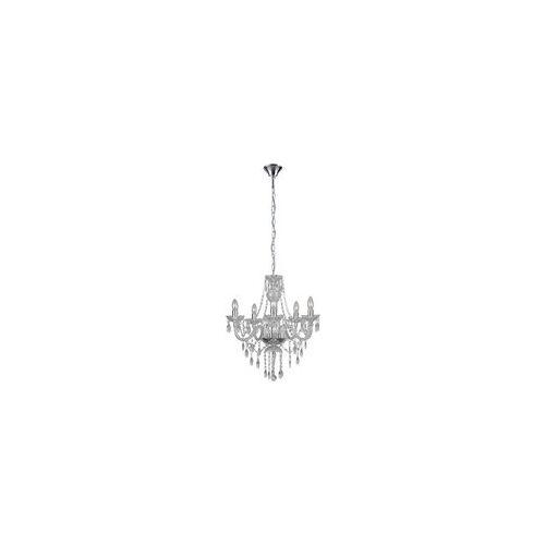Hölscher Leuchten Kronleuchter 41805 Klar Kunststoff D: Ca. 55 Cm E14 5 Brennstellen