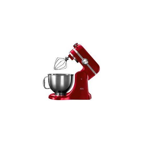 AEG Küchenmaschine Km54wr Rot Metall B/h/t: Ca. 27x36x21 Cm Ca. 4,8 L