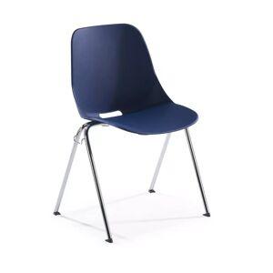 Ofichairs Besucherstuhl Miss, ergonomische Rückenlehne, 4 Beine blau