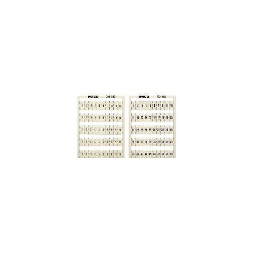 WAGO 209-566  (5 Stück) - WSB-Bezeichnungssystem W: 1-50(2x) 209-566