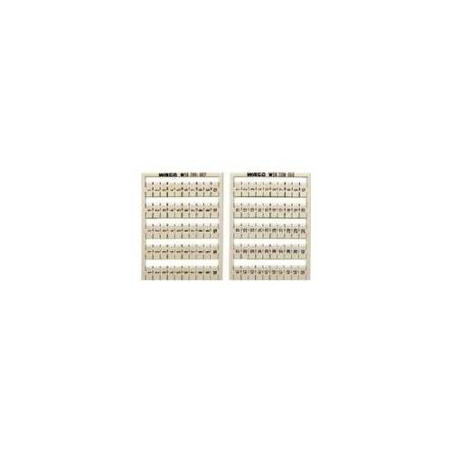 WAGO 249-601  (5 Stück) - WSB-Bezeichnungssystem S: 51-60 (10x) 249-601