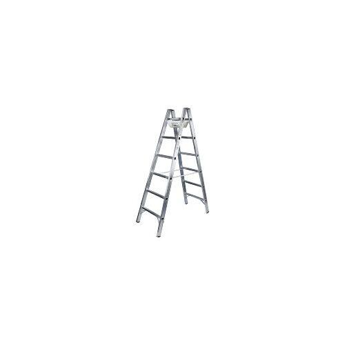 Geis & Knoblauch (ILLER) 6106  - Alu-Sprossenstehleiter 2x6 Sprossen 6106