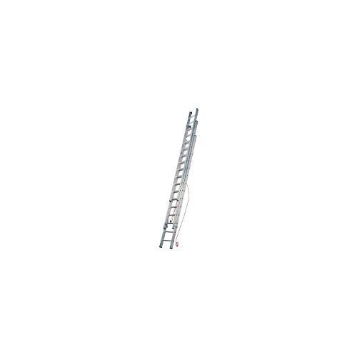 Geis & Knoblauch (ILLER) 67318  - Sprossenschiebeleiter Ind. 3-t. m.Seilzug 3x18 67318