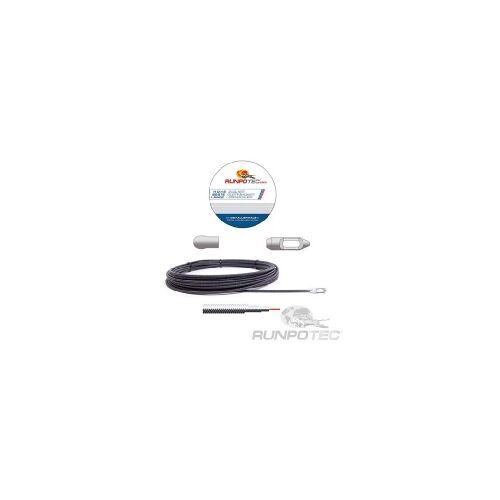 Runpotec 30014  - Metallspirale D=4mm, 30m mit Kopf 30014