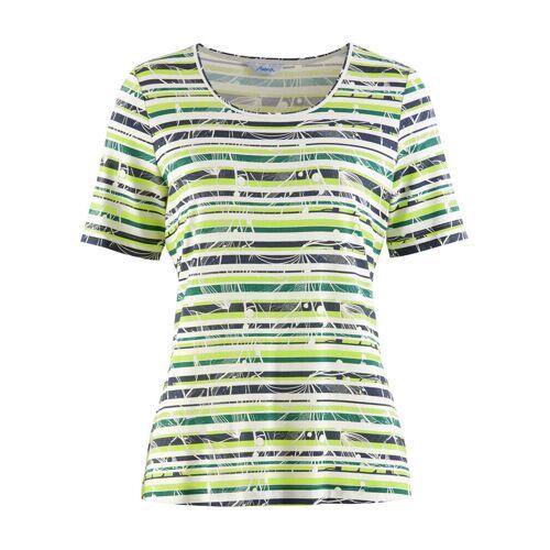Avena Damen Aloe vera-Shirt Sommerfrische Gelb