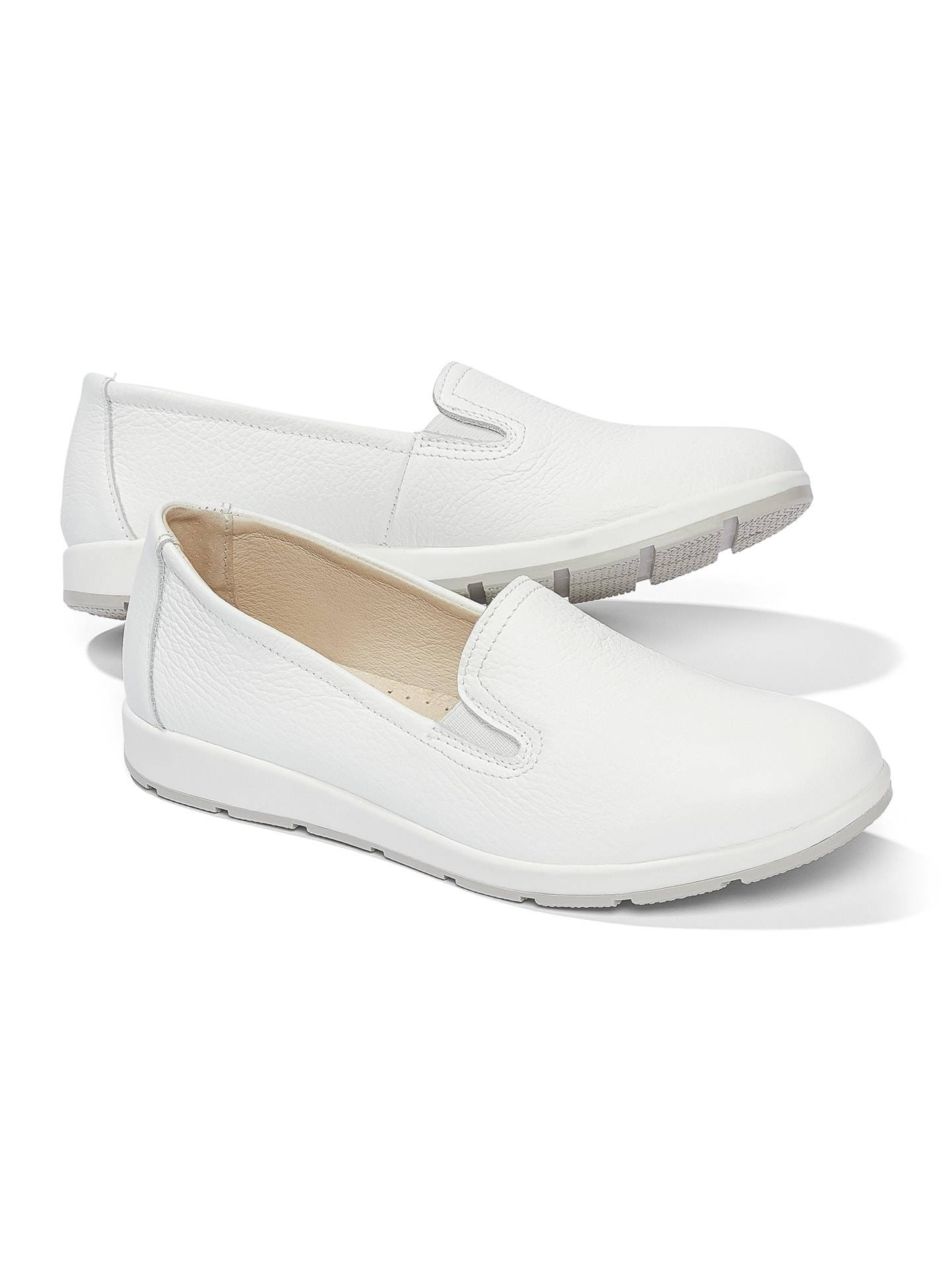 Walbusch Damen Koffer Slipper 2.0 einfarbig Weiß 39