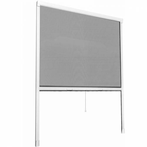 TECTAKE Insektenschutzrollo - Insektenschutz, Mückenschutz, Insektenschutzgitter - 90 x 160 cm - weiß