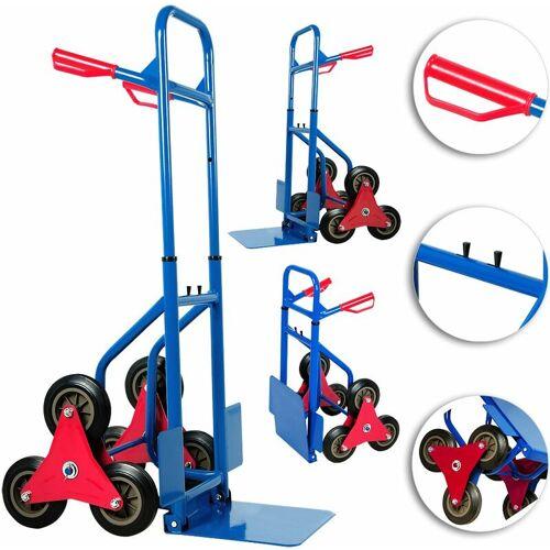 DEUBA Treppenkarre klappbar bis 200kg Hartgummireifen Haltegriffe Sackkarre Transportkarre Stapelkarre Wagen - Deuba